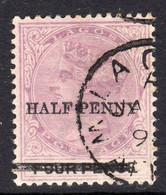 Nigeria Lagos 1893 HALFPENNY On 4d Surcharge, Wmk. Crown CA, P. 14, Used, SG 42 (BA) - Nigeria (...-1960)
