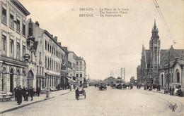 Brugge Bruges  Statieplein 't Zand De Statieplaats La Place De La Gare Stationsplein Tram Statie Station    M 5246 - Brugge