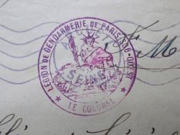 Marcophilie  -  Cachet Legion Gendarmerie Paris Sud-Ouest (2682) - 1921-1960: Periodo Moderno