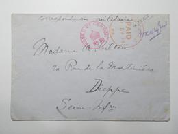 Marcophilie  -  Censure Sur Enveloppe 1914 Destination Dieppe (2687) - Poststempel