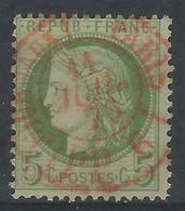 AAA-/-044-. N° 53, OBL. JOURNAUX ROUGE  Du 11/07/1876,  COTE  25.00 € , VOIR LE SCAN POUR DETAIL,  VERSO SUR DEMANDE - 1871-1875 Cérès
