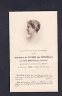 Souvenir Deces Au Houx Marquise Du Plessis De Grenedan Née Nelly Benoiste Des Valettes - Décès