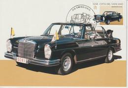 Vatican Carte Maximum 1997 Automobile Mercedes Benz 1066 - Maximum Cards