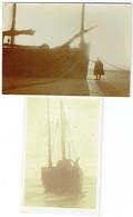 Foto/Photo. Militaria. La Panne. Barque De Pêche Et Militaire. Lot De 2 Photos. - Oorlog, Militair