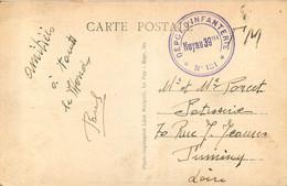 Cachet Militaire DEPOT D'INFANTERIE N° 13 - NOYAU 39 Ter - Militaire Stempels Vanaf 1900 (buiten De Oorlog)