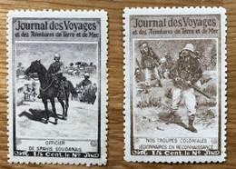 VIGNETTE 1907 - Lot De 2 Timbres NSG NEUF Sans Gomme - JOURNAL DES VOYAGES - TBE - Autres