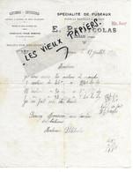 88 - Vosges - LERRAIN - Facture PETITCOLAS - Métiers, Dévidoirs, Etc - 1916 - REF 165C - France
