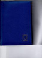 ALBUM SCHAUBEK PETIT FORMAT COMME NEUF 225X165X15 AVEC 10 PAGES DOUBLES DE 8 BANDES  FOND BLANC COUVERTURE BLEU - Klein Formaat, Blanco Pagina
