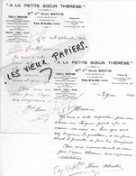 88 - Vosges - VAL-D'AJOL - Facture MARTIN - Tissus, Confections, Bonneterie, Lingerie, Mercerie, Etc - 1946 - REF 165C - France
