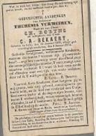 30 09 46//  ° LEDE 1825 + 1874     THERESIA VERMEIREN - Godsdienst & Esoterisme