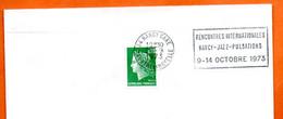 54 NANCY  GARE  JAZZ PULSATIONS 1973  Lettre Entière N° ST 549 - Mechanische Stempels (reclame)