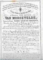 30 09 46//  ° DENDERMONDE  1805 + 1875  JEAN BAPT..VAN MOSSELVELDE  Porceleinkaartje - Godsdienst & Esoterisme