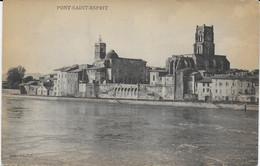 """Pont Saint Esprit - CPA Cie Lyonnaise De Navigation De Plaissance - Vue Prise Du Bateau-Salon """"Ville De Lyon"""" - Pont-Saint-Esprit"""