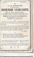 30 09 48//     WYTSCHAETE 1847 + 1870    SIDONIE VAN DELANOITTE - Godsdienst & Esoterisme