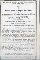 30 09 48//    ° MESSINES 1849 + 1868   ELODIE GAUQUIE - Godsdienst & Esoterisme
