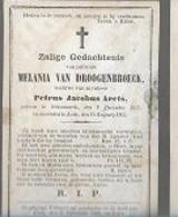 30 09 48//    ° SCHOONAERDE 1817 + LEDE 1865   MELANIA VAN DROOGENBROECK - Godsdienst & Esoterisme