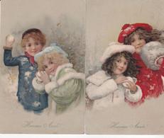 CPA Illustrateur Signées ,M.M.VIENNE N°285 ( Enfants) 2 Cartes écrites En 1907.(rare) - Other Illustrators