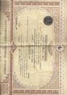 Gouvernement Impérial Ottoman- 2 Titres De L'emprunt 4% 1909 N° 12661 Et 12662 - Banco & Caja De Ahorros
