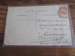 """Carte Vue """"overstroomingen In Waasland 1912-1913 Oblitérée Du RELAIS De VERREBROEK (cote E) En 1913 - Storia Postale"""