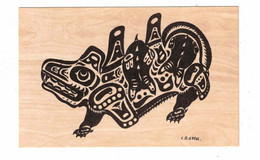 """British Columbia, Canada, Indian Motif- """"WASGO"""", Seamonster,  Old Litho. Postcard - Unclassified"""