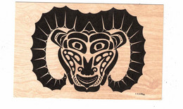 """British Columbia, Canada, Indian Motif- """"RAM"""",  Old Litho. Postcard - Unclassified"""