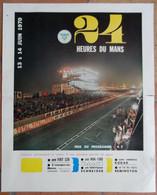 24 H Du Mans 1970.Affichette Des 24 H - 1950 - Oggi