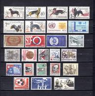 Checoslovaquia   1965   .-  Y&T  Nº     1408/13-1414/16-1417/18-1419/20-1421-1422-1423-1424-1425-1426/28-1429-1430-1431/ - Gebraucht