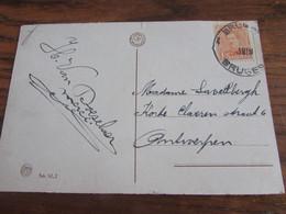 1918-19 : Carte Vue De Bruges Oblitérée De FORTUNE Par Le CACHET DUPLEX De BRUGGE 1 En 1919 - Noodstempels (1919)
