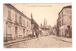 CPA 94 VALENTON Grande Rue Et L'Eglise - Valenton
