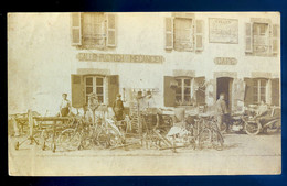 Photo Originale Gallo Pustoch Mécanicien Sans Doute Quimperlé ?? Café Atelier Magasin  SE20-19 - Professions