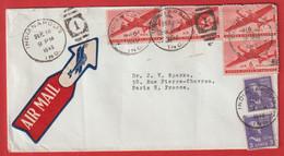 """Lettre Indianapolis Pour La France. Air Mail Du 18  Septembre  1946 """" Eli Lilly And Company """" - Brieven En Documenten"""