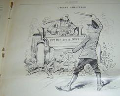 LE CHARIVARI - 15 ET 16/07/1901 -L'AGENT CHAUFFEUR  - HENRIOT? - Sonstige