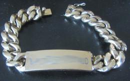 Importante Gourmette En Métal Plaqué Or FIX - Poids : 47,8 Grammes, Longueur : 18 Cm - Bracelets