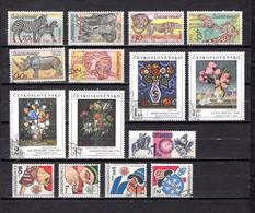 Checoslovaquia   1976-77   .-  Y&T  Nº     2181/86-2187/90-2191-2192/95 - Usati