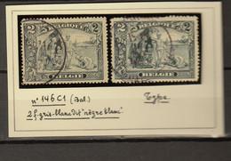 Belgie - Belgique Ocb Nr :  146 - 146b Negre Blanc (zie Scan) - 1915-1920 Alberto I