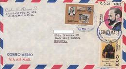 90773- BANK, JESUS CASTILLO, HERMANO PEDRO, STAMPS ON COVER, 1983, GUATEMALA - Guatemala