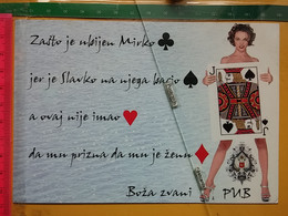 KOV 702-1 - Montenegro,  Playing Cards, Cartes à Jouer - Postkaarten