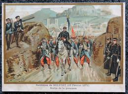 Image Pédagogique A. BELLIER  - Guerre De 1870 - N° 37 Reddition De BELFORT - 15 Février 1871 - Illustrateur G. GERMAIN - Otros