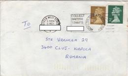 90854- QUEEN ELISABETH 2ND STAMPS ON COVER, 1980, UK - 1952-.... (Elisabetta II)