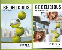 DKNY * BE DELICIOUS * POSTCARD + PATCH * V/R - Modernes (à Partir De 1961)