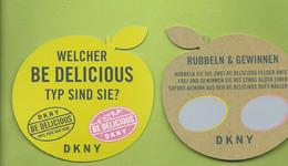 DKNY * BE DELICIOUS *  CARD  * V/R - Modernes (à Partir De 1961)
