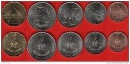 Vanuatu Set Of 5 Coins: 5 - 100 Vatu 2015 UNC - Vanuatu