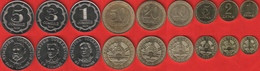 Tajikistan Set Of 9 Coins: 1 Diram - 5 Somoni 2019 UNC - Tajikistan