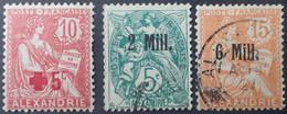 DF50500/1114 - 1921/1922 - TYPE MOUCHON / BLANC - COLONIES FR. - ALEXANDRIE - N°34 NEUF* + N°35 Et 40 ☉ - Nuovi