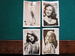 Fotos Film Stars   6 X 9 Cm  Dorothy Patrick, Donna Reed, Linda Cristian En Corinne Calvet - Personalidades Famosas
