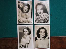 Fotos Film Stars   6 X 9 Cm  Jane Hylton, Patricia Roc, Ava Gardner En Ann Dvorak - Personalidades Famosas