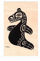 "British Columbia, Canada, Pacific NW Coast Indian Motif ""SEA LION"", Haida Tribe, Old Litho Postcard - Unclassified"