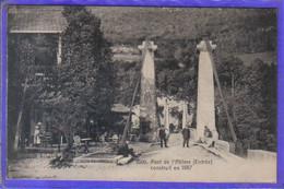 Carte Postale 74. Cusy   Pont De L'Abîme Reliant Cusy à Gruffy Très Beau Plan - Otros Municipios