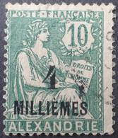 DF50500/1116 - 1921/1923 - TYPE MOUCHON - COLONIES FR. - ALEXANDRIE - N°61 ☉ - Usati