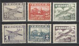 Marocco - Tanger - 1949 - Nuovo/new MNH - Airmail - Mi N. 141/46 - Maroc Espagnol
